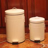 三款彩色加厚垃圾桶家用腳踏美式復古