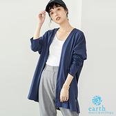 「Hot item」有機棉定番開襟落肩罩衫 - earth music&ecology