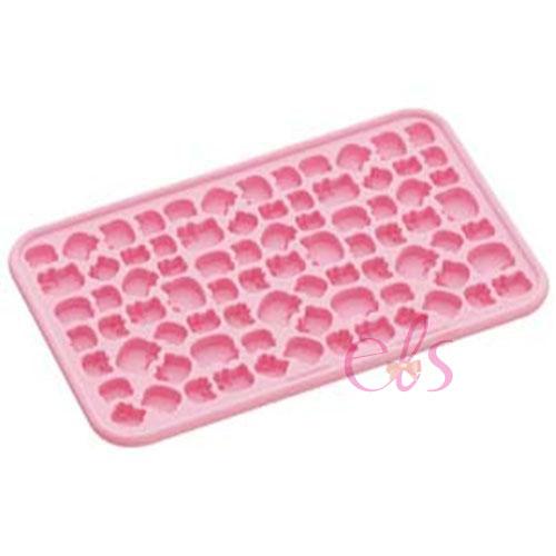 日本 HELLO KITTY 凱蒂貓 矽膠製冰模 烘培模具 冰塊模 製冰盒 一次可做81顆 ☆艾莉莎ELS☆