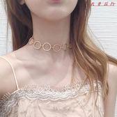 鎖骨鍊女短款頸帶圓圈頸鍊項圈