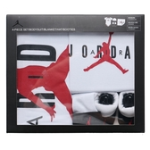 JORDAN 白底 紅logo 爬爬服 禮盒 (布魯克林) NJ0313001
