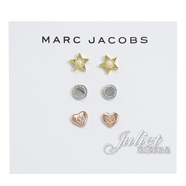 茱麗葉精品【全新現貨】MARC JACOBS 刻印LOGO造型耳環套組 #961