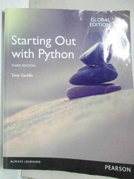 【書寶二手書T1/電腦_DO6】Starting Out with Python, Global Edition_Tony Gaddis