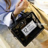 洗漱包 旅行化妝品收納包PU防水洗漱包韓可愛女士化妝包大容量便攜手提包·夏茉生活