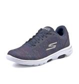SKECHERS系列-GO WALK 5 女款藍色編織運動健走鞋-NO.15935NVMT