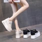 增高鞋 內增高小白鞋女夏季新款休閒百搭秋厚底糕鞋潮板鞋爆款【88折免運】