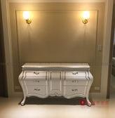 [紅蘋果傢俱] XGL-23 銀狐系列 新古典 餐邊櫃 玄關櫃 櫃子 儲物櫃 金箔 銀箔 雕花雕刻