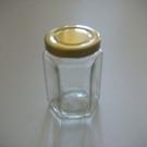 金蓋瓶(六角柱型-100ml)/儲物罐/玻璃瓶/密封罐/收納罐/糖果罐/保鮮罐