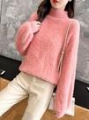毛衣外套 套頭水貂絨毛衣女慵懶釘珠秋冬寬松針織衫外套加厚打底上衣潮 風尚
