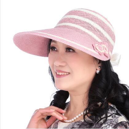 春夏季中老年女士時尚防曬太陽帽PLL3844【男人與流行】
