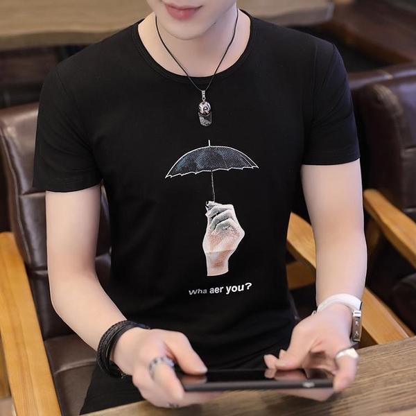 男士短袖t恤潮牌韓版潮流夏季男裝修身上衣服 印巷家居
