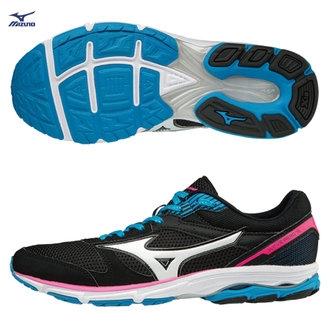 MIZUNO WAVE AERO 16  女鞋 路跑 慢跑 輕量 黑 【運動世界】 J1GB173503