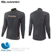 【AROPEC】男款戶外AquaThermal 長袖防水透氣、防風防寒刷毛上衣 - Penguin LS TOP 企鵝(黑)
