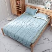 水洗棉雙人寢具三件組-向暖藍-生活工場