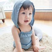 連體衣 ins嬰兒衣服夏天男女寶寶牛仔連體衣外貿無袖三角哈衣薄款純棉0-1 萌萌小寵
