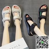 運動涼鞋女夏夏季平底百搭休閒沙灘女鞋軟底輕便