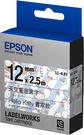 LC-4LBY EPSON Kitty系列畫家款藍底黑字標籤帶 (寬度12mm) C53S625059