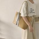 側背包 韓版大容量包包女2021新款潮網紅托特包復古絲巾側背手提包購物袋 【99免運】