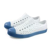 native JEFFERSON CLEAR 休閒鞋 洞洞鞋 白/藍 男女鞋 11100144-1919 no933