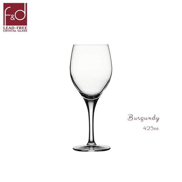 f&d Burgundy 425cc高腳杯 水晶玻璃杯 水晶杯 紅酒杯