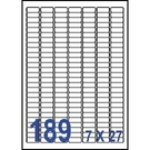 Unistar 裕德3合1電腦標籤紙 (25)US4344 189格 (100張/盒)