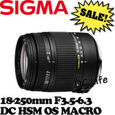 【24期0利率】SIGMA 18-250mm F3.5-6.3 DC HSM OS MACRO (公司貨)