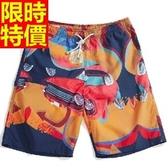 海灘褲-衝浪防水俐落優質精美個性男短褲子1色54q11【時尚巴黎】