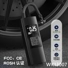 跨境便攜式車載充氣泵輪胎 電動手持打氣泵智能無線自行車打氣筒 wk13007
