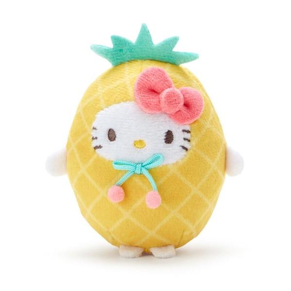 小禮堂 Hello Kitty 迷你沙包玩偶 (黃鳳梨款) 4550337-78088