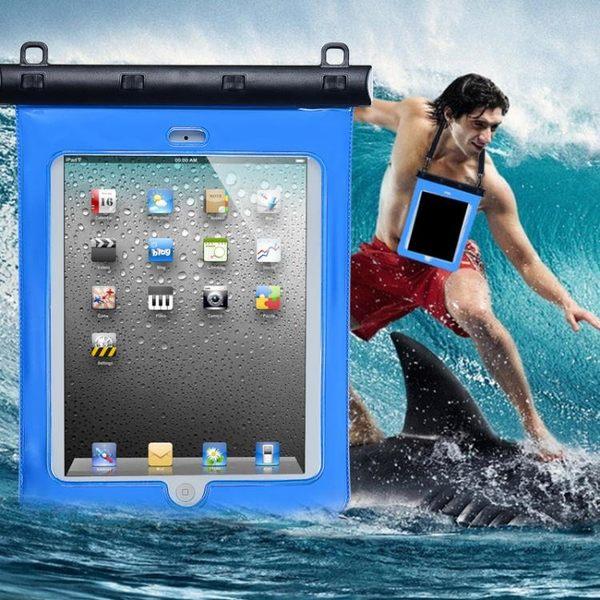 平板電腦防水袋可觸屏觸控蘋果iPad防水套mini潛水包洗澡防水包 焦糖布丁