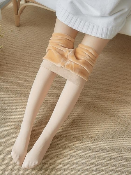 快速出貨 光腿肉色打底褲女外穿裸感神器連襪棉褲加絨加厚秋褲秋冬季踩腳