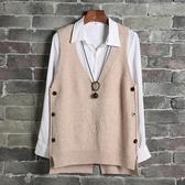 馬甲女冬短款針織背心新款時尚韓版寬鬆網紅同款春裝百搭馬夾 韓國時尚週