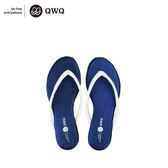 QWQ創意鞋-寶石藍 GLITTER人字拖鞋-(PU系列 )