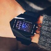 創意LED飛機錶 男士防水手錶男個性創意電子錶學生復古 小艾時尚