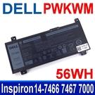 戴爾 DELL PWKWM 4芯 . 電池 M6WKR P78G Inspiron 14-7466 7467 7000
