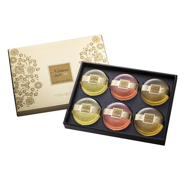 膠原蛋白黃金香氛皂禮盒6入裝(茉莉x2+玫瑰x2+檀香x2)-含禮盒提袋【台鹽生技】