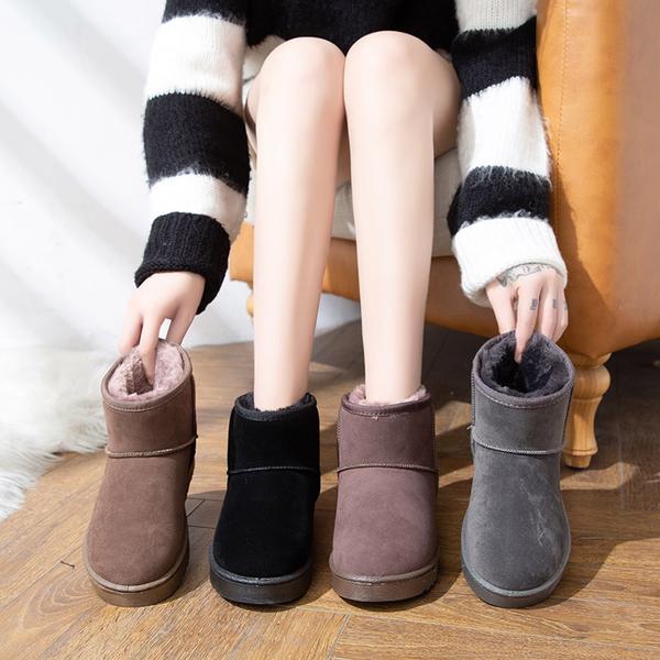 雪靴 女鞋子2020新款雪地靴女秋冬百搭棉鞋短筒加絨爆款面包鞋時尚短靴 店慶降價
