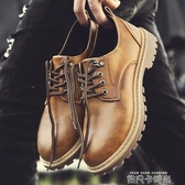 馬丁靴男英倫風低筒短靴韓版潮流復古大頭皮鞋男士休閒工裝靴男靴 依凡卡時尚