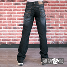 【2108】拼接口袋刷色伸縮牛仔長褲 彈力 輕薄(黑色)● 樂活衣庫