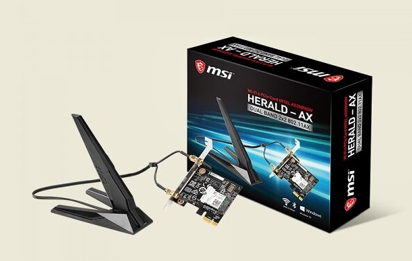 MSI 微星HERALD-AX 無線藍芽網卡(Intel AX200NGW WIFI 6 ) 【刷卡含稅價】