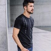 男士圓領短袖t恤(2色)修身簡約上衣SX1012 E家人