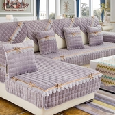 毛絨沙發墊歐式防滑布藝坐墊子通用全包萬能法蘭絨套 黛尼時尚精品
