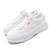 Puma 休閒鞋 Deva Wns 白 全白 金標 女鞋 運動鞋 厚底 【ACS】 37119903