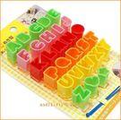 asdfkitty可愛家☆日本MSA ABC英文字壓模-可壓起司.蛋皮.蔬菜.餅乾模型-日本正版商品