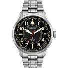 CITIZEN 星辰 光動能萬年曆手錶-黑x銀/44mm BX1010-53E