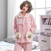 月子服孕婦睡衣秋冬加厚保暖坐月子家居服開衫產婦哺乳套裝 zm10203【每日三C】