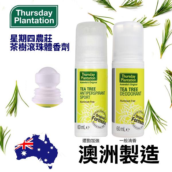澳洲星期四農莊 茶樹滾珠體香劑 60ml 一般/運動 兩款可選 Thursday Plantation【PQ 美妝】