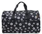 HAPI+TAS 摺疊大旅行袋 - 摩登花朵黑