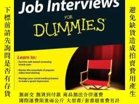二手書博民逛書店Job罕見Interviews For Dummies, 4th EditionY410016 Joyce L