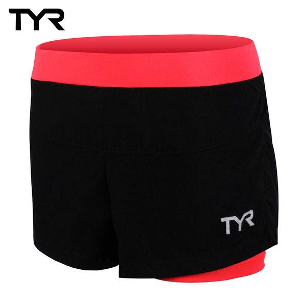 美國TYR 女款透氣排汗短褲 Ladies Running Short Peach 台灣總代理